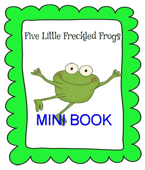 5 Freckled Frogs Mini-Book