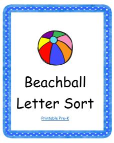 Letter Sorting File Folder Game